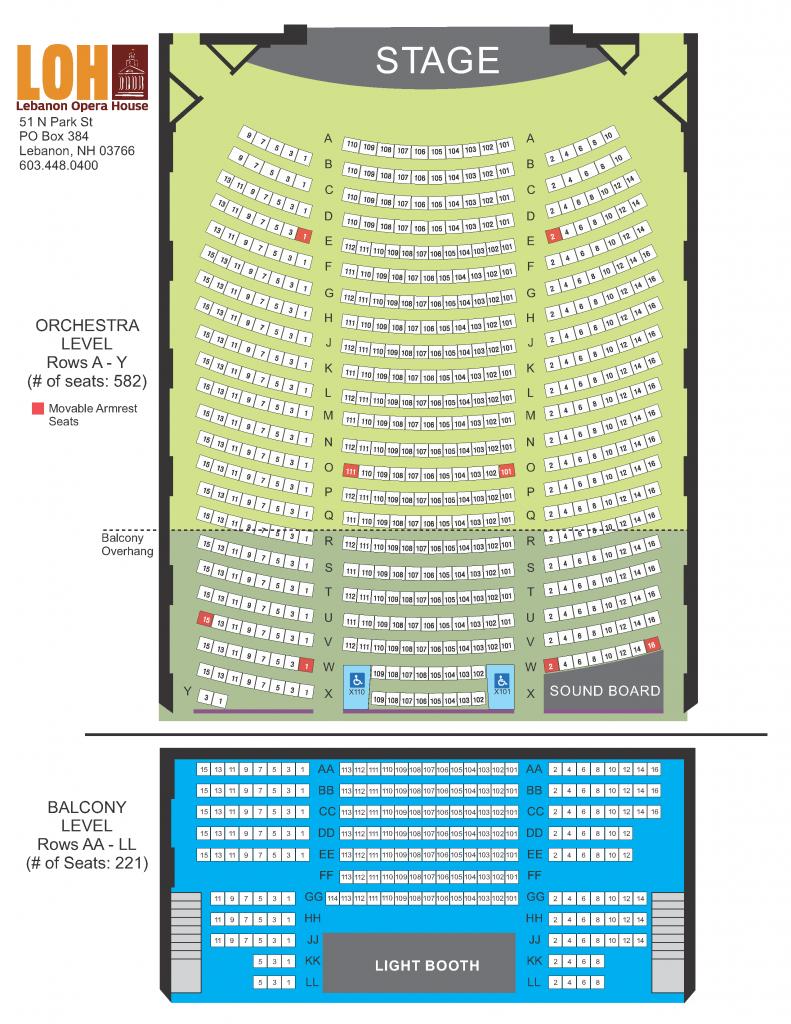 Lebanon Opera House Seating Chart